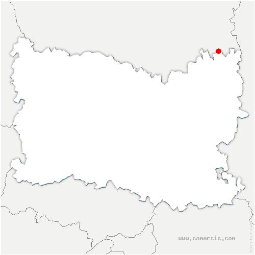 carte de localisation de Libermont