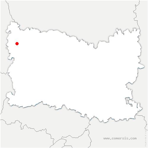 carte de localisation de Loueuse