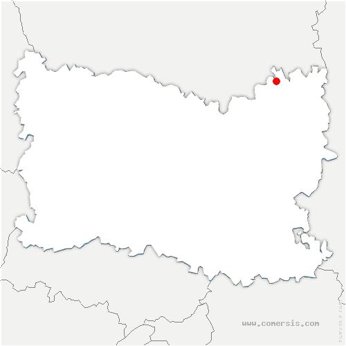 carte de localisation de Margny-aux-Cerises