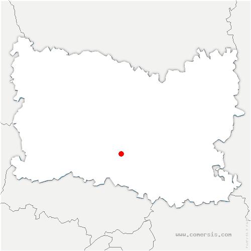 carte de localisation de Mello