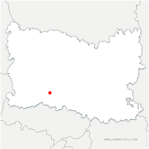 carte de localisation de Méru