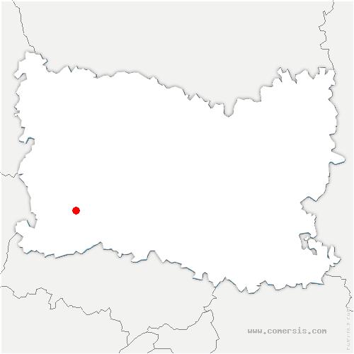 carte de localisation de Mesnil-Théribus