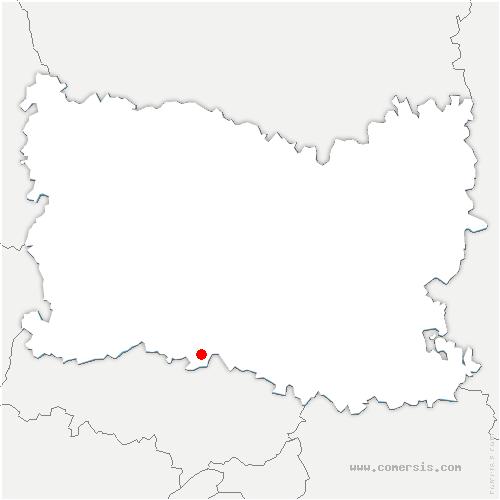carte de localisation de Mesnil-en-Thelle