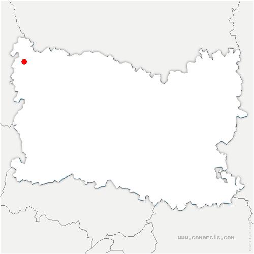 carte de localisation de Monceaux-l'Abbaye