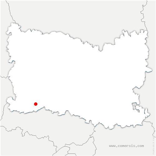carte de localisation de Monneville