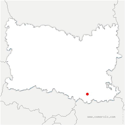 carte de localisation de Montagny-Sainte-Félicité