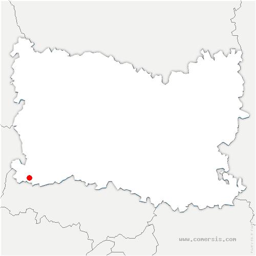 carte de localisation de Montagny-en-Vexin