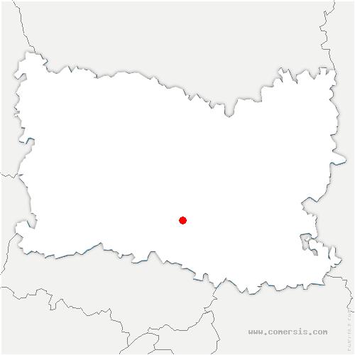 carte de localisation de Montataire