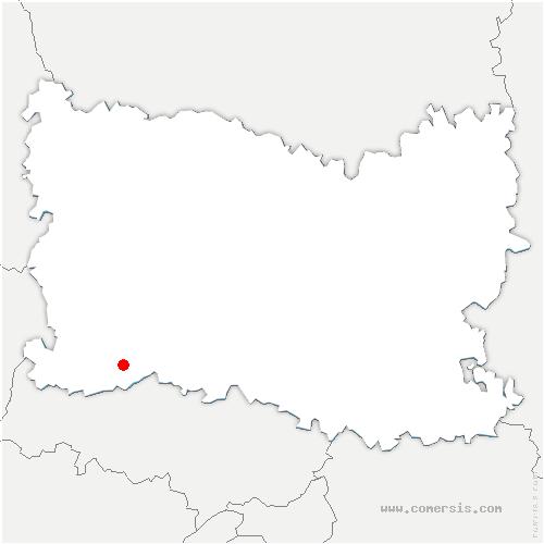 carte de localisation de Monts