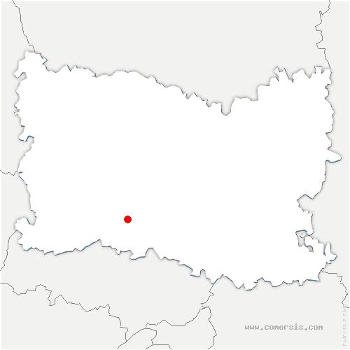 carte de localisation de Mortefontaine-en-Thelle
