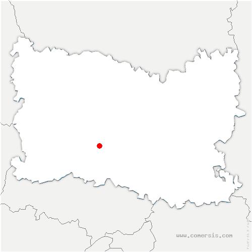 carte de localisation de Mouchy-le-Châtel