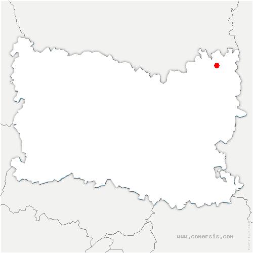 carte de localisation de Muirancourt