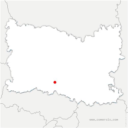 carte de localisation de Neuilly-en-Thelle