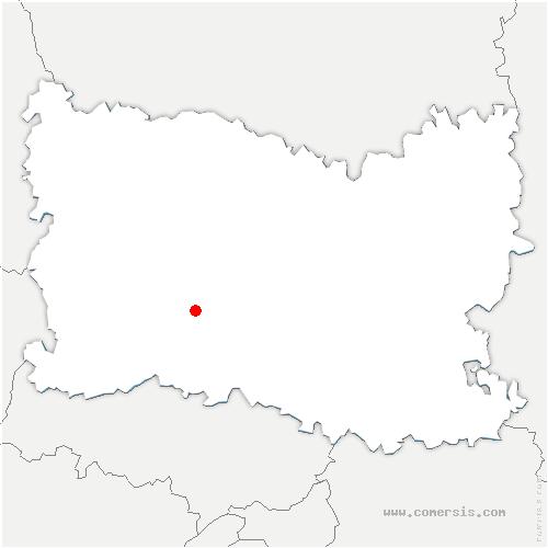 carte de localisation de Noailles