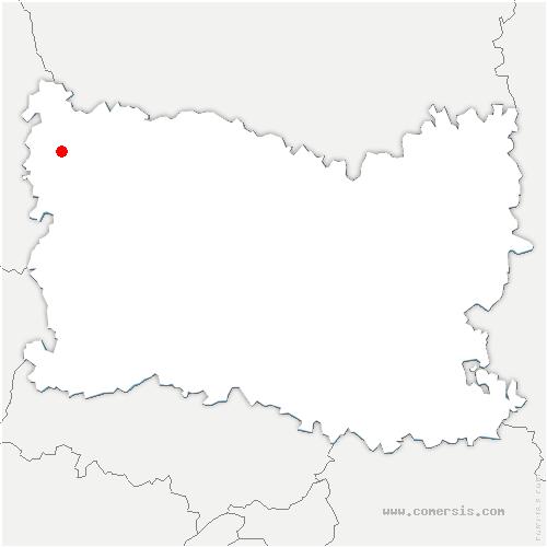 carte de localisation de Omécourt
