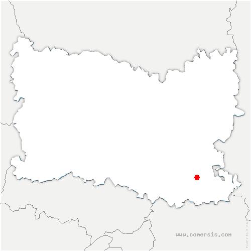 carte de localisation de Péroy-les-Gombries