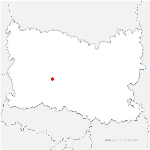carte de localisation de Ponchon
