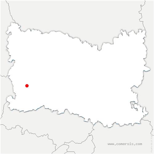 carte de localisation de Porcheux