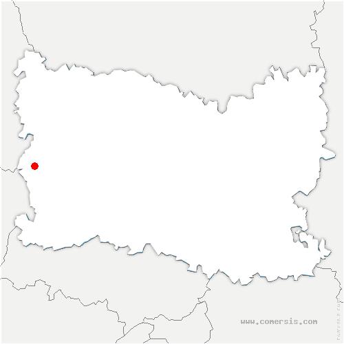 carte de localisation de Puiseux-en-Bray