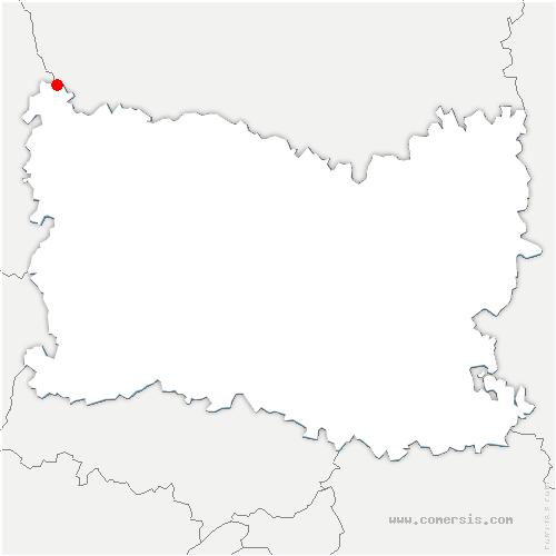 carte de localisation de Quincampoix-Fleuzy
