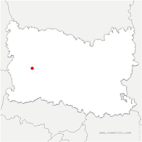 carte de localisation de Rainvillers