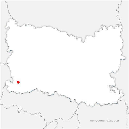 carte de localisation de Reilly
