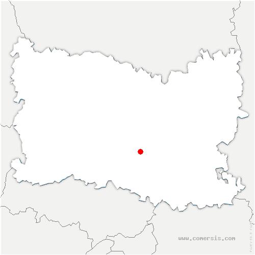 carte de localisation de Rieux