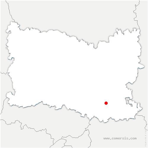 carte de localisation de Rosières