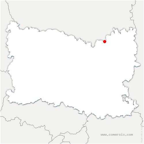 carte de localisation de Roye-sur-Matz