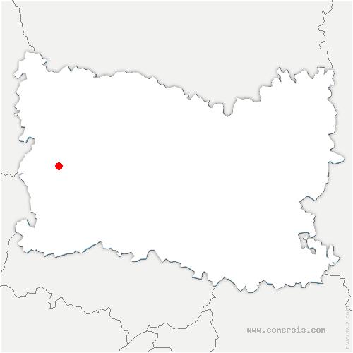 carte de localisation de Saint-Aubin-en-Bray