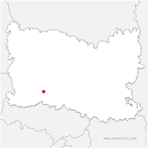 carte de localisation de Saint-Crépin-Ibouvillers