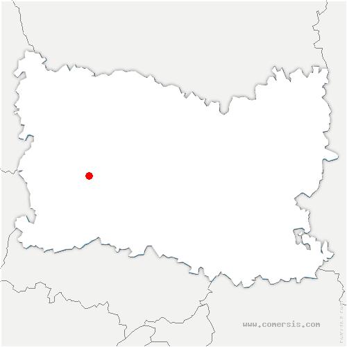 carte de localisation de Saint-Martin-le-Nœud