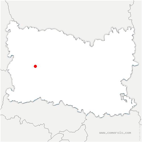 carte de localisation de Saint-Paul