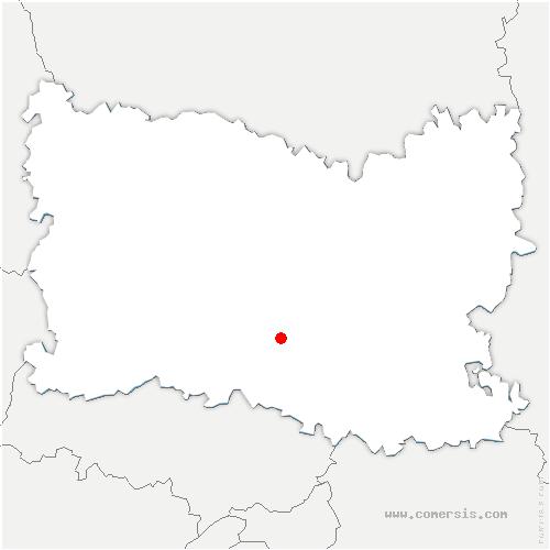 carte de localisation de Saint-Vaast-lès-Mello