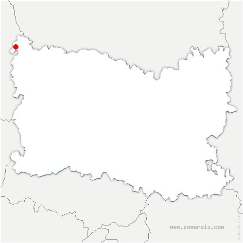 carte de localisation de Saint-Valery