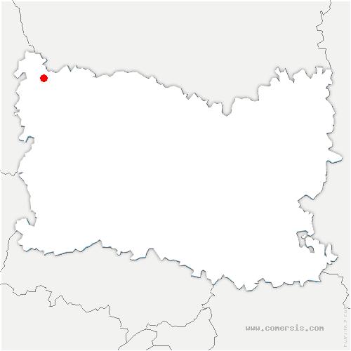 carte de localisation de Sarcus