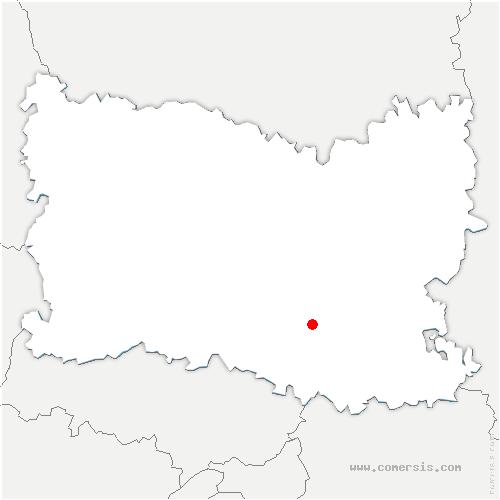 carte de localisation de Senlis