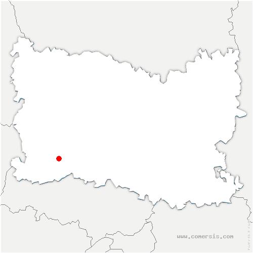 carte de localisation de Senots