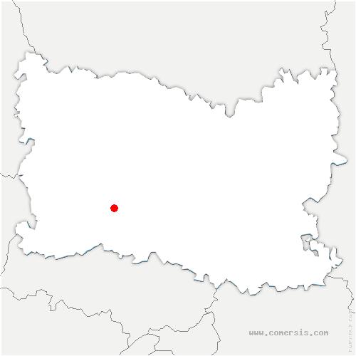 carte de localisation de Silly-Tillard