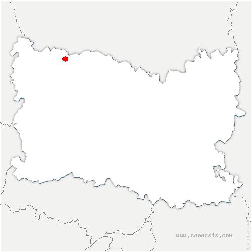 carte de localisation de Sommereux