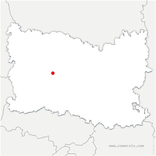 carte de localisation de Therdonne