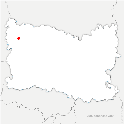 carte de localisation de Thérines