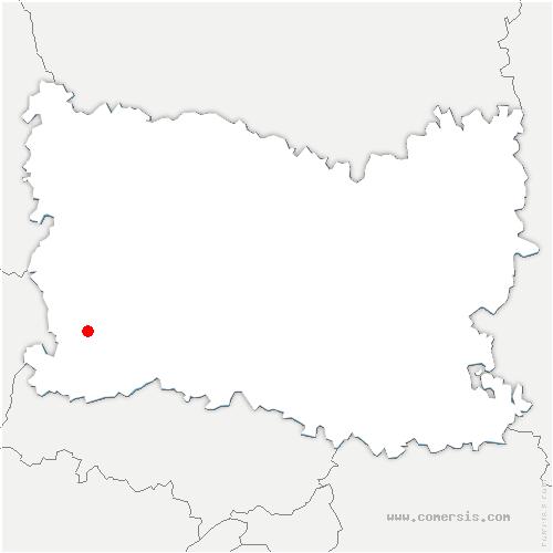 carte de localisation de Thibivillers
