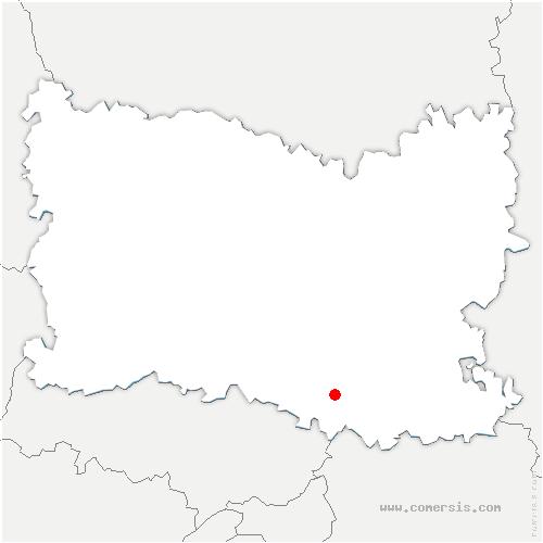 carte de localisation de Thiers-sur-Thève