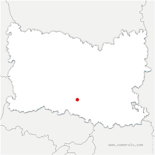 carte de localisation de Thiverny