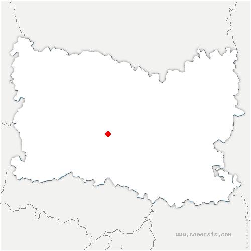 carte de localisation de Thury-sous-Clermont