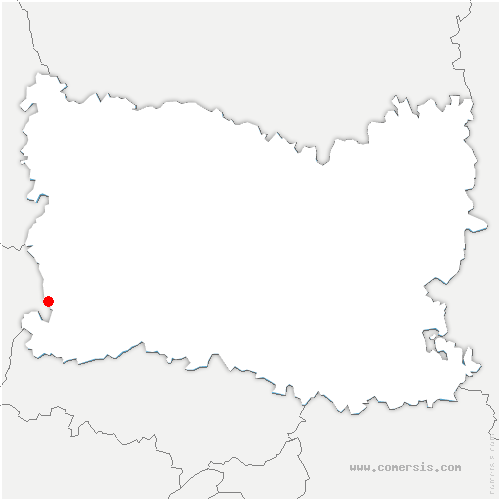 carte de localisation de Trie-Château