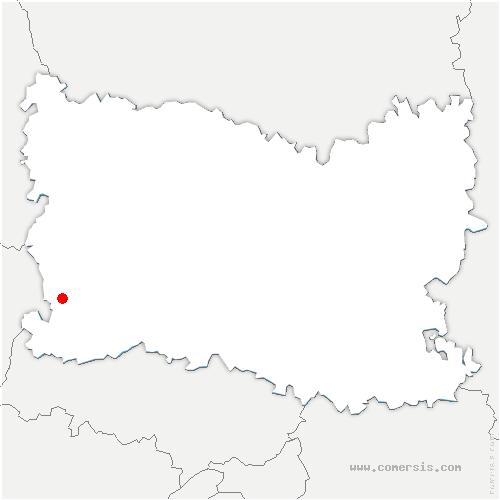 carte de localisation de Trie-la-Ville