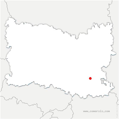 carte de localisation de Trumilly