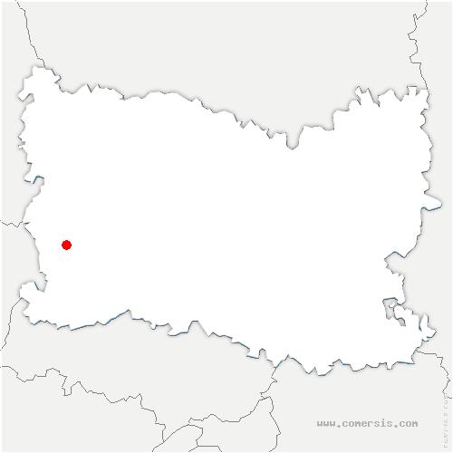 carte de localisation de Vaumain